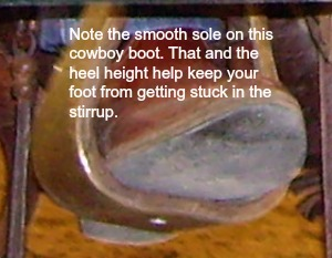 riding boots-why the smooth sole and heel height?