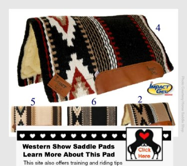 browse western show saddle pads now